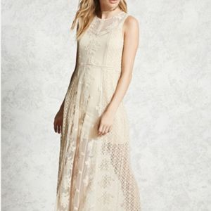 Forever 21 Contemporary Sheer Crochet Dress